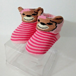 Girls Teddy Bear Baby Crib Sock Shoes Baby Booties